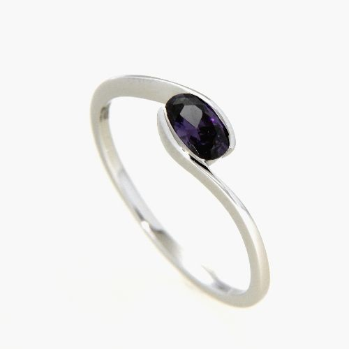 Ring Silber 925 rhodiniert Weite 56