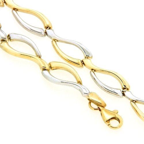 Armband Gold 333 bicolor 19 cm