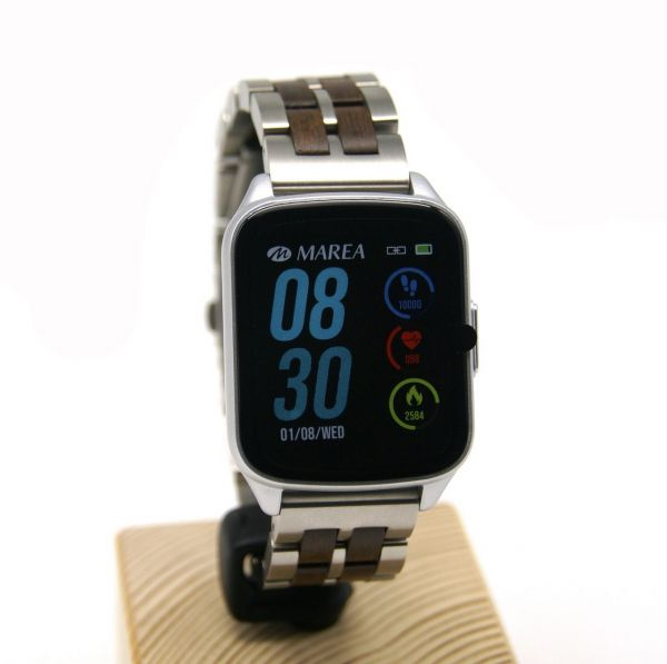 MAREA Smart Watch B59001/3 mit LAiMER Holzarmband UB87