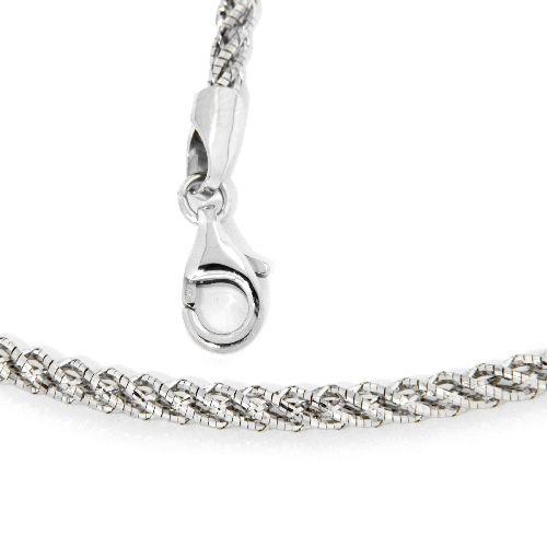 Collier Silber 925 rhodiniert 42 cm