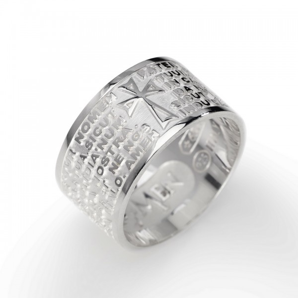 AMEN Ring Silber VATER UNSER Latein PNLA-26