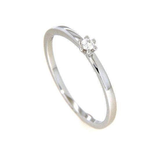 Ring Weißgold 585 Brillant 0,05 ct.Weite 58