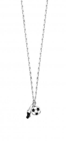 SCOUT Halskette silber, schwarz, weiß Fussball 261034200