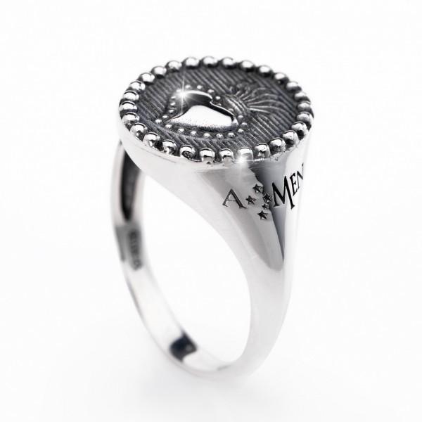 AMEN Ring Silber Gr. 64 ASC-24
