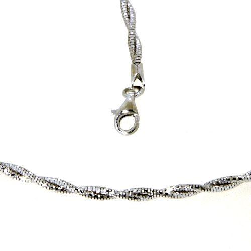 Halsreifen (Omega) Silber 925 rhodiniert 42+3 cm