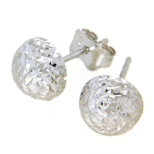 Ohrstecker Silber 925 rhodiniert rund