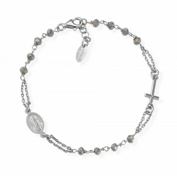 AMEN Armband 18 + 2 cm Silber BROBF3