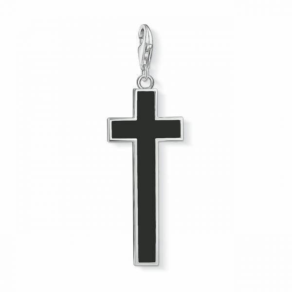 Thomas Sabo Charm-Anhänger Kreuz Schwarz Y0020-024-11