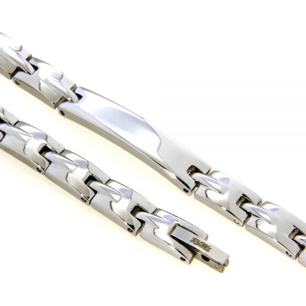 Identitäts-Armband Edelstahl 21 cm