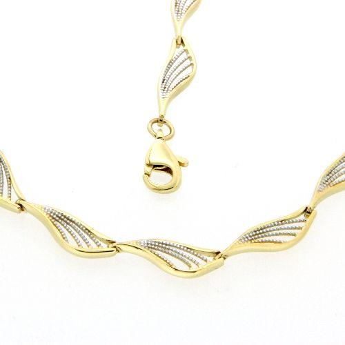 Kette Gold 333 bicolor 43 cm