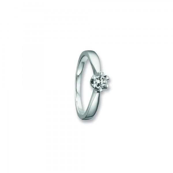 Ring Krappe Zirkonia 925 Silber rhodiniert Größe 53