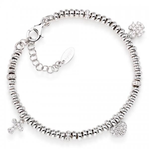 AMEN Armband 16 + 3 cm Silber PO3MB