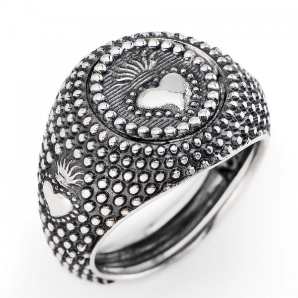 AMEN Ring Silber Herz Gr. 64 ASC1-24