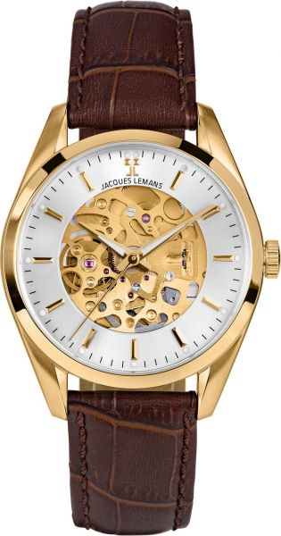 Jacques Lemans Herren-Armbanduhr Derby Automatic 1-2087E