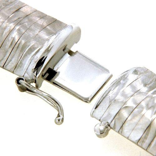 Armband Silber 925 rhodiniert 19 cm Kastenschloss