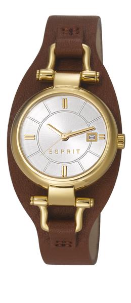 ESPRIT Armbanduhr cuff chic light brown ES106782004