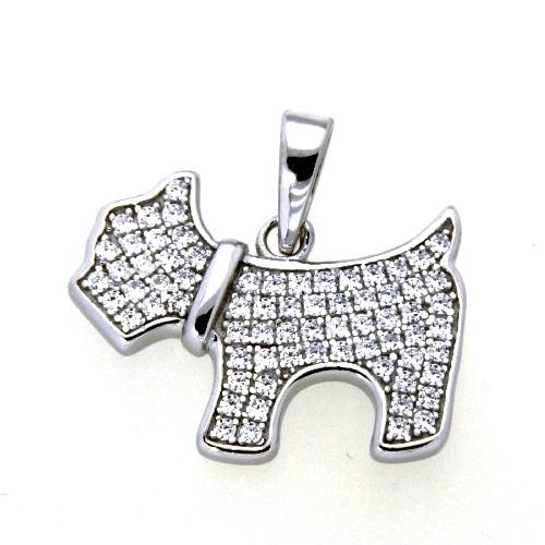Anhänger Silber 925 rhodiniert Hund