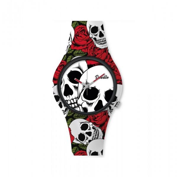 Doodle Skull Mood Armbanduhr DOSK001