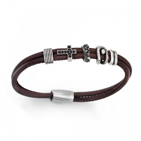 AMEN Armband 20,5 cm Leder BR105-L
