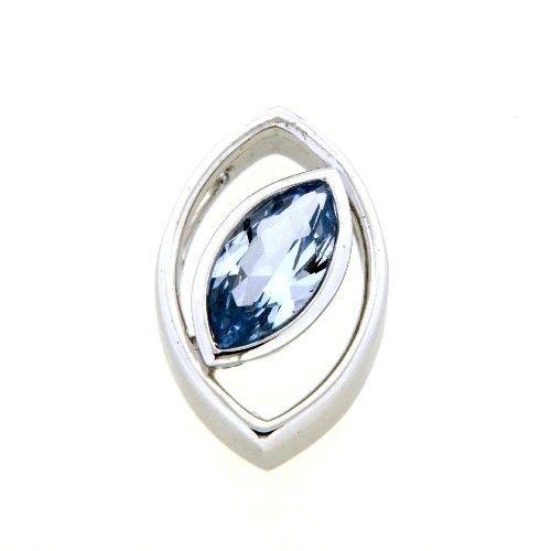 Anhänger Silber 925 rhodiniert synthetischer blauer Spinell