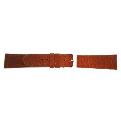 Uhrarmband Leder 22mm rotbraun Edelstahlschließe