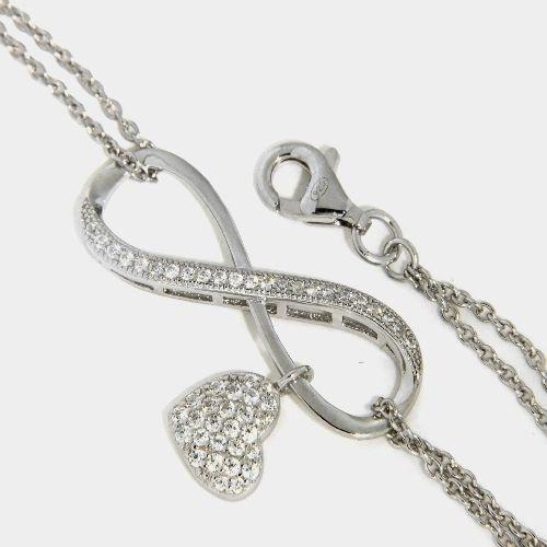 Armband Silber 925 rhodiniert 17 cm + 2 cm unendlich