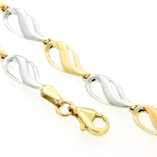 Armband Gold 333 bicolor 19 cm