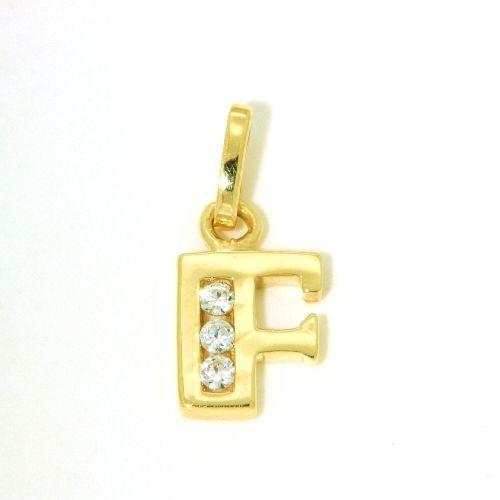 Buchstaben-Anhänger F Gold 333