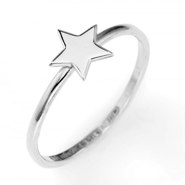 AMEN Ring Silber Stern Gr. 58 ASB-18
