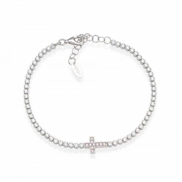 AMEN Armband 16 + 3 cm Silber TCRB