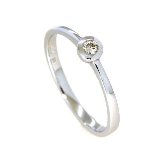 Ring Weißgold 585 Brillant 0,07 ct. Weite 51