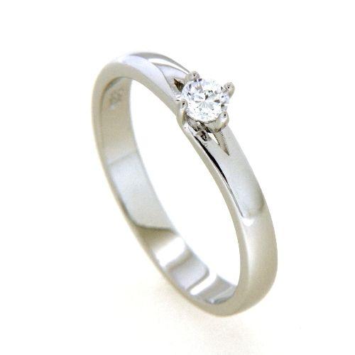 Ring Silber 925 rhodiniert Zirkonia Weite 56