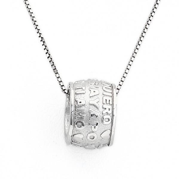 AMEN Kette 42 cm Silber PTAB