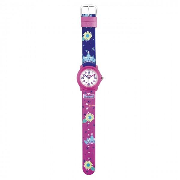 SCOUT Armbanduhr pink, blau Crystal 280305027