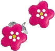 SCOUT Ohrschmuck silber, pink Blumen 262124100