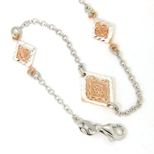 Armband Silber 925 rhodiniert rosé vergoldet