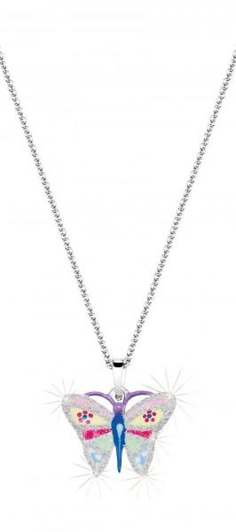 SCOUT Halskette bunt, silber Schmetterlinge 261107200