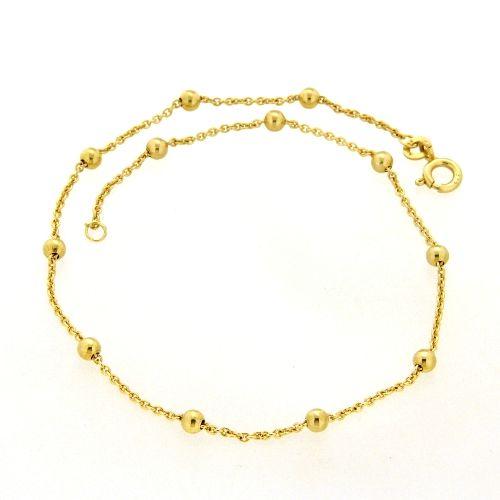 Fußkette Gold 333 25 cm