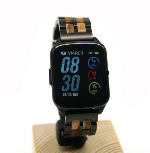 MAREA Smart Watch B59001/1 mit LAiMER Holzarmband UB88