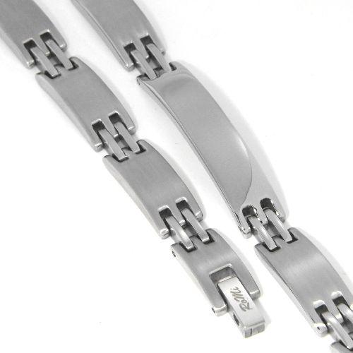 Identität-Armband Edelstahl 21 cm