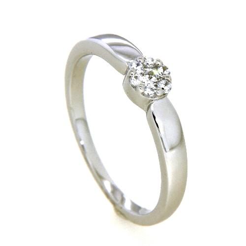 Ring Silber 925 rhodiniert Weite 58