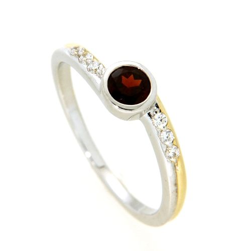 Ring Gold 585 biolor Weite 58