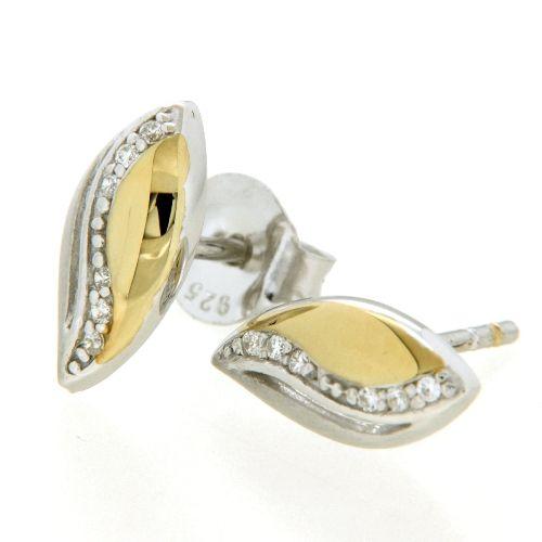 Ohrstecker Silber 925 rhodiniert & vergoldet