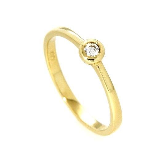 Ring Gold 585 Brillant 0,07 ct. Weite 52