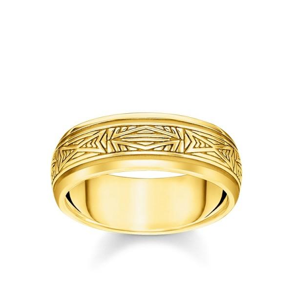 Thomas Sabo Ring Ornamente vergoldet Größe 68 TR2277-413-39-68