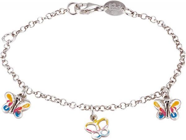 SCOUT Armband silber, bunt Schmetterlinge 260107100