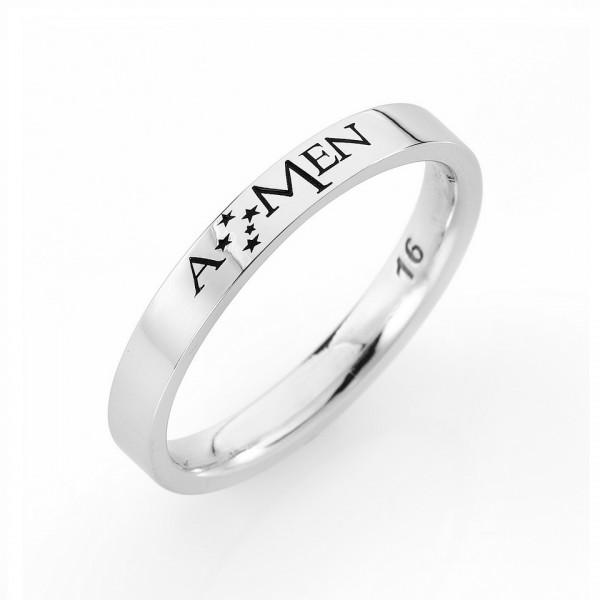 AMEN Ring Silber Gr. 64 FE001-24