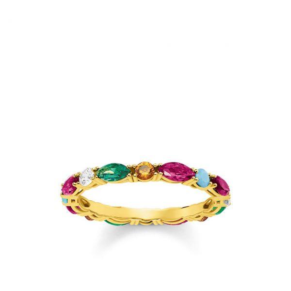 Thomas Sabo Ring Farbige Steine TR2185-488-7-48