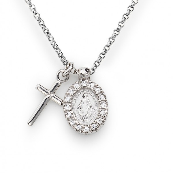 AMEN Kette 40 + 4 cm Silber CLCMZB