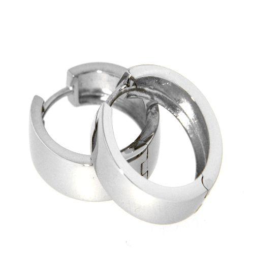 Scharniercreolen Silber 925 rhodiniert